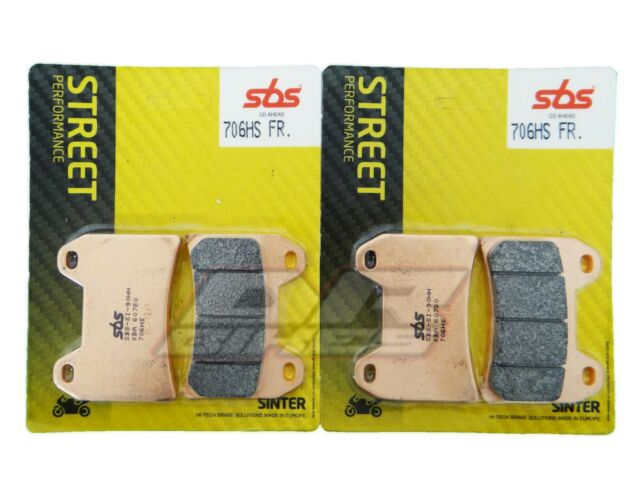 Ducati 696 Monster 2008-2012 SBS Street Sintered Front Brake Pads 706HS
