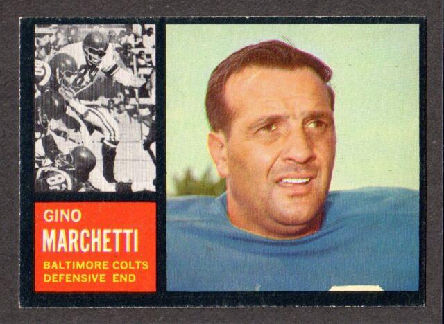 1962 TOPPS FOOTBALL #8  Gino Marchetti  San Francisco  BALTIMORE COLTS  EX-MT  A