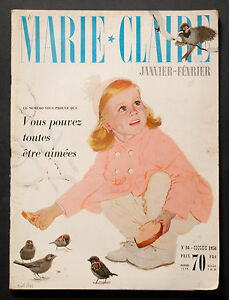 039-MARIE-CLAIRE-039-FRENCH-VINTAGE-MAGAZINE-NEW-YEAR-ISSUE-JANUARY-1956