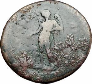 COMMODUS-177AD-Authentic-Ancient-Roman-Coin-PARIUM-MYSIA-EROS-HERM-RARE-i79952