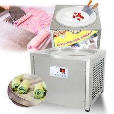 Desktop 45cm 18 Single Round Pan Rolled Ice Cream Machinefry Yogurt Machine