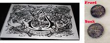 Assassins Creed IV 4 Black Flag Eurogamer Poster Art Lithograph & Preorder Coin