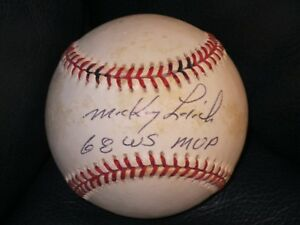 544a26416ee Image is loading Mickey-Lolich-Autographed-Baseball-Detroit-Tigers-68-WS-
