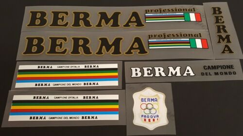 Metallic Gold sku 10677 Black Berma Bicycle Decal Set