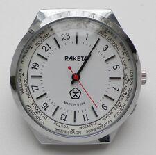 RUSSIA Raketa 24 ORE orologio meccanico orologio in BIANCO CALIBRO 2609.H