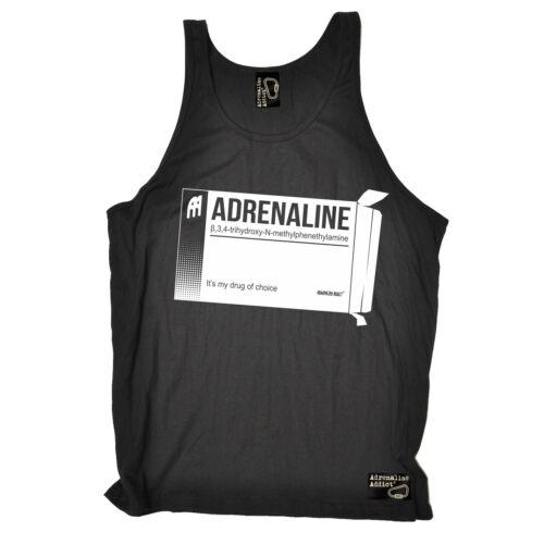 Adrenaline Escalade ses mon médicament de choix Uni Débardeur Drôle Cadeau Anniversaire