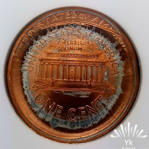2000 MS64RD HUGE DOUBLE STRUCK CAPPED DIE INDENT MUSHROOM LINCOLN MINT ERROR