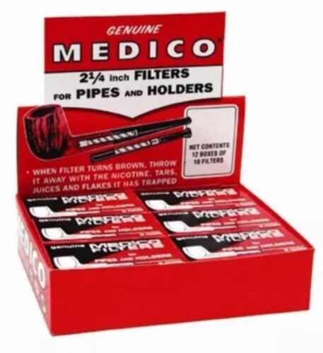 """5 Boxes Genuine Medico Tobacco Pipe /& Cigar Holder Filter NEW 2 1//4/"""" 600 Filters"""