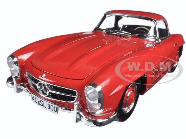 1957 MERCEDES 300 SL SL SL W198 RED W HARD TOP LTD 600pc 1 18 BY MINICHAMPS 180039041 42c300
