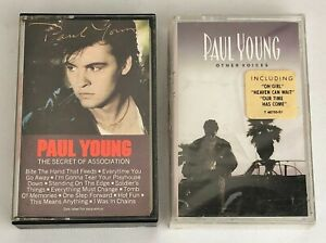 Lot-of-2-PAUL-YOUNG-Cassette-Tapes-The-Secret-of-Association-Other-Voices