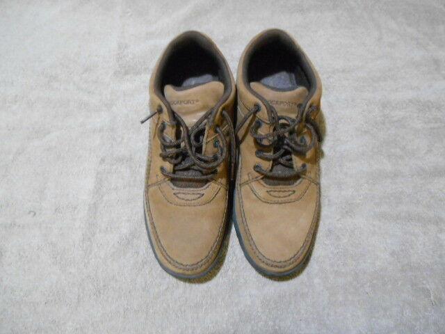 ROCKPORT BROWN WTC LACE UP CASUAL WALKING WOMENS SHOES APW80166 US 8.5W