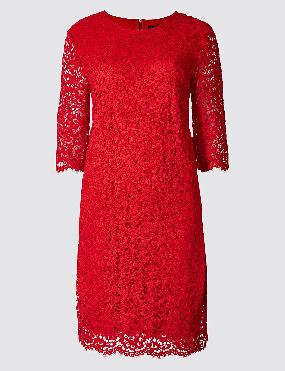 M&S COLLECTION Cotton Rich Lace Layered Tunic Dress PRP