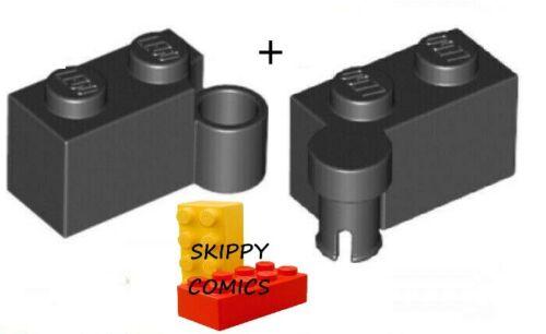 383126 6344999 Charnière hinge brique brick NOIR BLACK LOT Lego