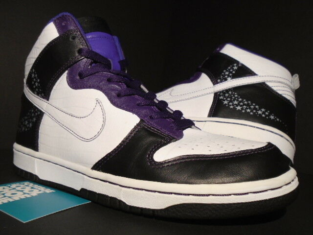 2006 NIKE SB DUNK HIGH PREMIUM CROCODILE STARS BLACK WHITE PURPLE DIAMOND 9