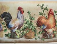 Roosters , Chickens & Chicks Wallpaper Border 10 1/4