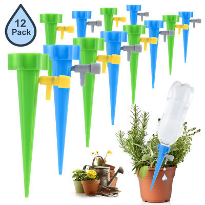 1//12pcs Garden Plant Automatic Self Watering Spikes Stakes Valve Waterer Device