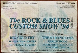 Rock-amp-Blues-Custom-show-1994-Big-Country-The-Stranglers-29th-30th-1994-Stub