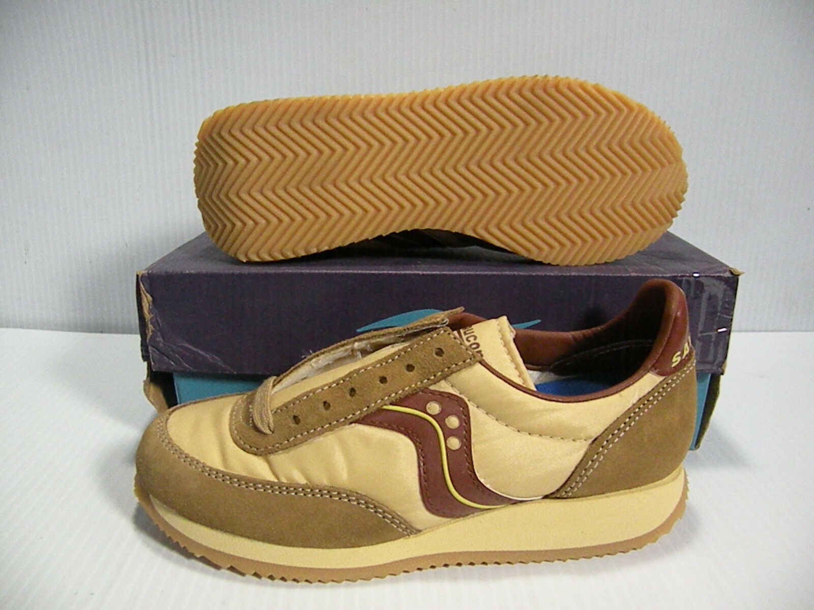 SAUCONY PHOENIX  LOW BROWN/TAN SNEAKERS Donna SHOES BROWN/TAN LOW 1485-2 SIZE 5 NEW ef3b05