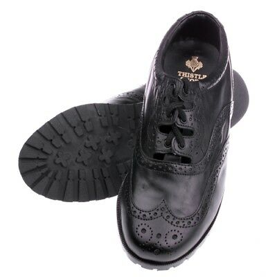 The Boys Brogue Traditional Leather Ghillie Brogue with Rubber sole