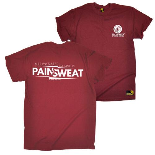 FB Gym Bodybuilding tee-Douleur et la sueur réalisations-Nouveauté T-shirt Homme