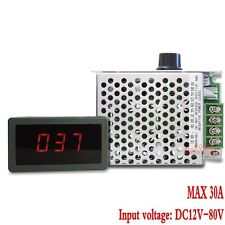 DC 12V 24V 36V 48V 60V 80V 30A PWM HHO RC Motor Speed Regulator Controller LED