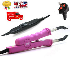 Pre-Bonded Fusion Heat Iron Wand Gun Connector Human Hair Extensions Fast Post