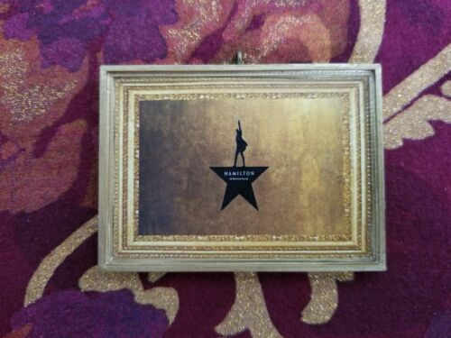 Hamilton Broadway Play Christmas Handmade Ornament//Magnet//Dollhouse miniature