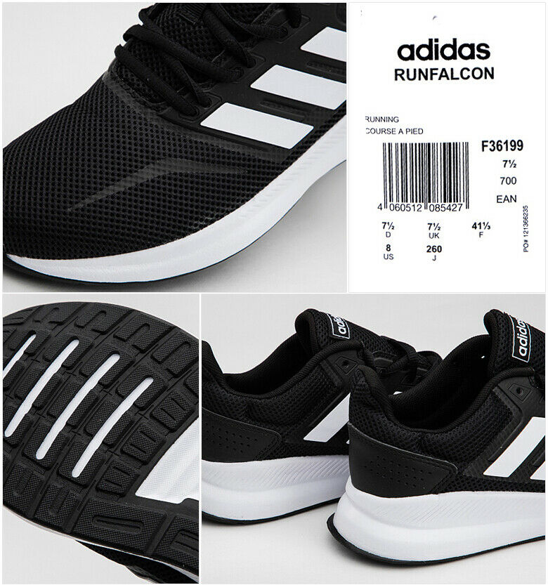 Details about Adidas Men's RunFalcon Running Shoes Athletic Training  Sneakers Black F36199