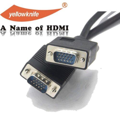 Male SVGA w//ferrite cores 15 FT 4.6M 15FT Premium Super VGA HD15 Cable Male