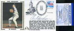 Orel Hershiser PSA DNA Coa Autograph Hand Signed 1988 FDC Cache