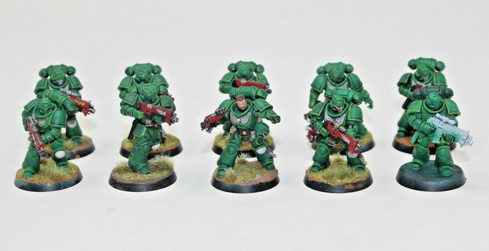 Warhammer spazio Marines Dark Angels  Intercessors Well Painted - JYS1  vendita online