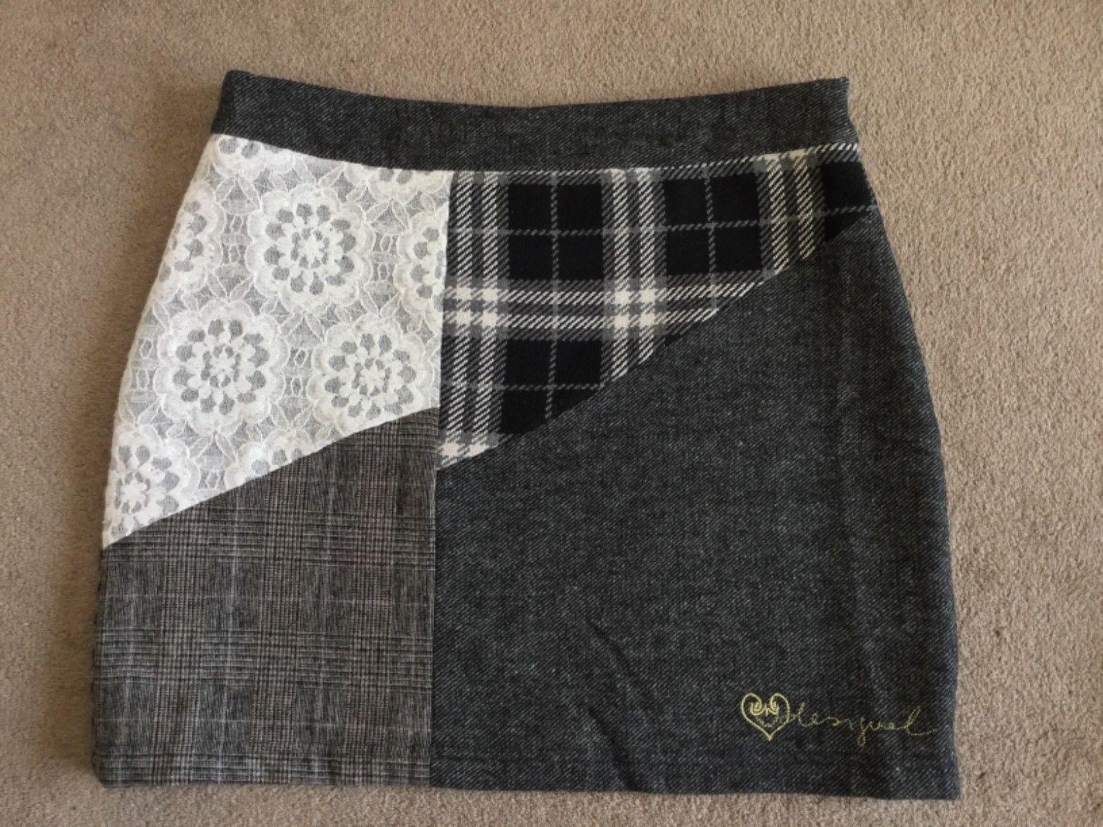 "Gorgeous Desigual Fal_Laly Lined Mini Skirt, 38(29"" Waist), NWT"