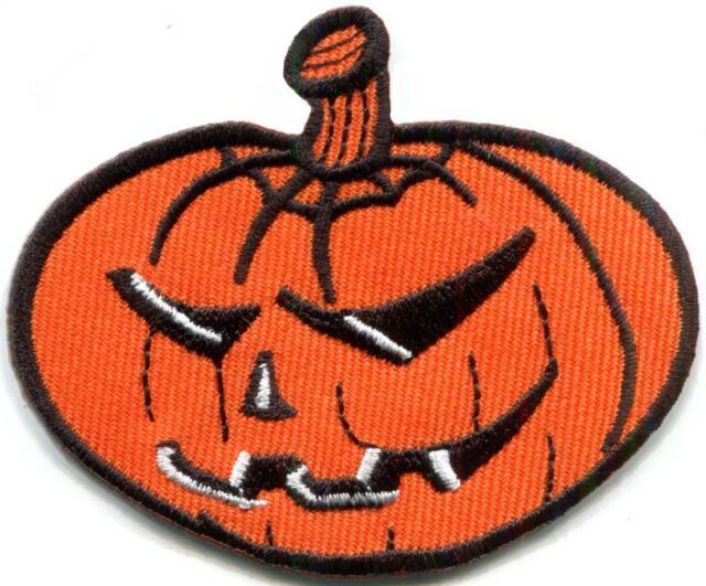 jack o lantern pumpkin celtic halloween samhain applique iron on patch s