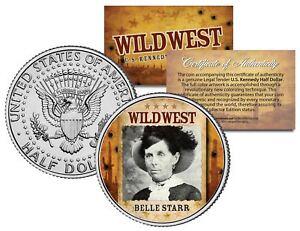 BELLE-STARR-Wild-West-Series-JFK-Kennedy-Half-Dollar-U-S-Coin