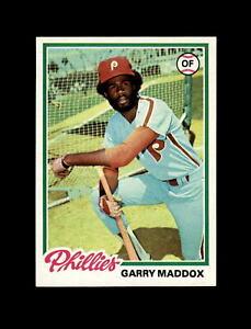 1978 Topps Baseball #610 Garry Maddox (Phillies) NM-MT