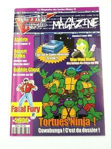 Livre Retro vers le futur Magazine numéro 3 tortue ninja fatal fury book