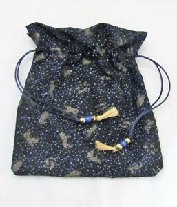 ZODIAC-Wicca-Pagan-Tarot-Card-Drawstring-Mojo-Bag-Pouch-FREE-SHIP