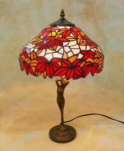 Tiffany-Tischlampe-Weinlaub-Winzer-Herbst-Tiffanylampe-Lampe-TE18-a