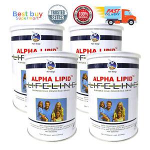 New Alpha Lipid Lifeline Colostrum Milk Drink 450g X 4 Tins Fast Shipping 9421004010771 Ebay