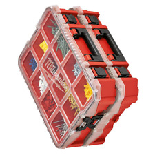 10 Compartment Red Deep Pro Portable Tool Box With Storage