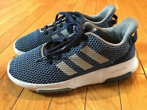 Adidas-CF-Racer-TR-Sneakers-Casual-Tennis-Shoes-Navy-Blue-Boys-Size-4-Youth
