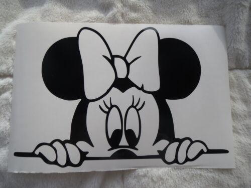 peeking Minnie Mouse  Car Truck window vinyl decal sticker us seller free ship