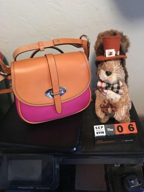 Buy Dooney Bourke Cristina Magenta Saddle Pebbled Leather