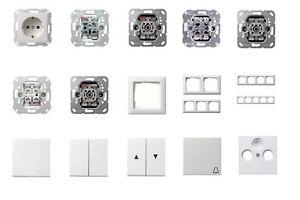 gira schalter steckdose u a system 55 reinwei. Black Bedroom Furniture Sets. Home Design Ideas