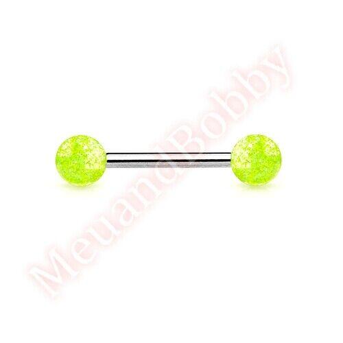 Glitter Ball Tongue Bar Ring Stud Piercing Jewellery CHOOSE SINGLE OR BULK PACK