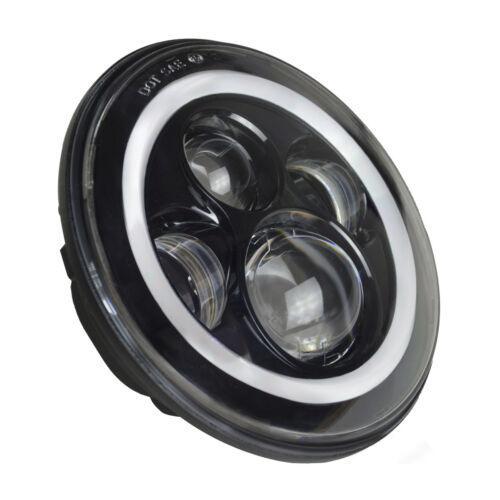 "7/"" Round RGB LED Halo Headlights Fog Lights Combo Kit For Jeep Wrangler JK 07-17"