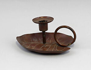 Copper Hand Lamps Leaf Dish Candle Holder 99833058