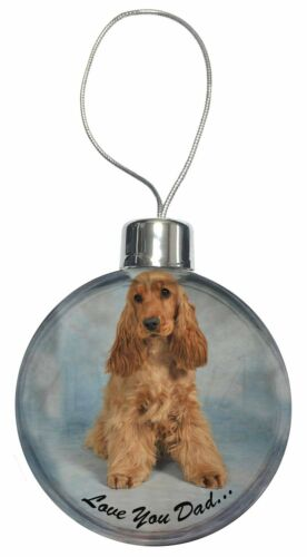 DAD-185CB Gold Cocker Spaniel /'Love You Dad/' Christmas Tree Bauble Decoration G