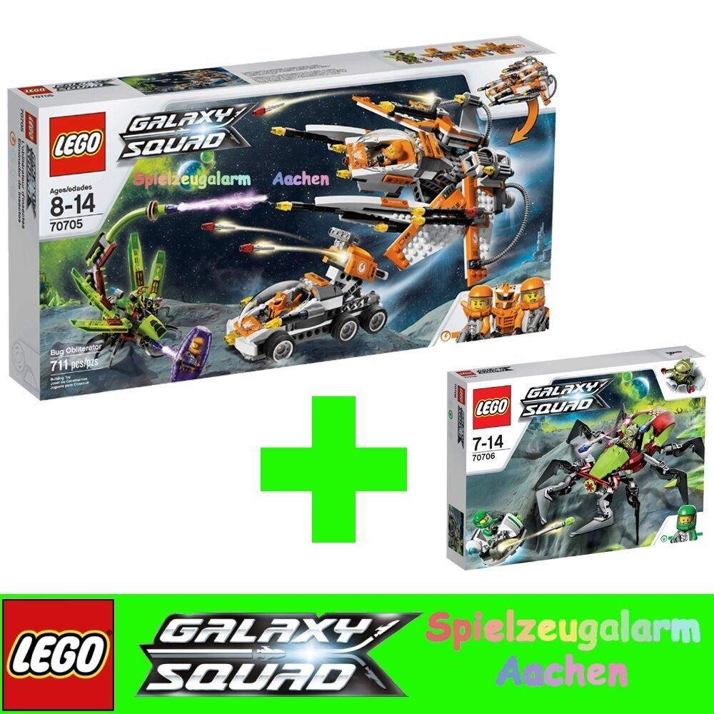 LEGO GALAXY SQUAD 70705 Kommando Bug Bug Bug Shuttle Bug 70706 Weltraum Krabbler Crater 6118b5