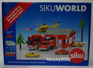 Siku-World-5502-Fire-Station-with-Firefighter-Pick-up-Truck-Model-Playset